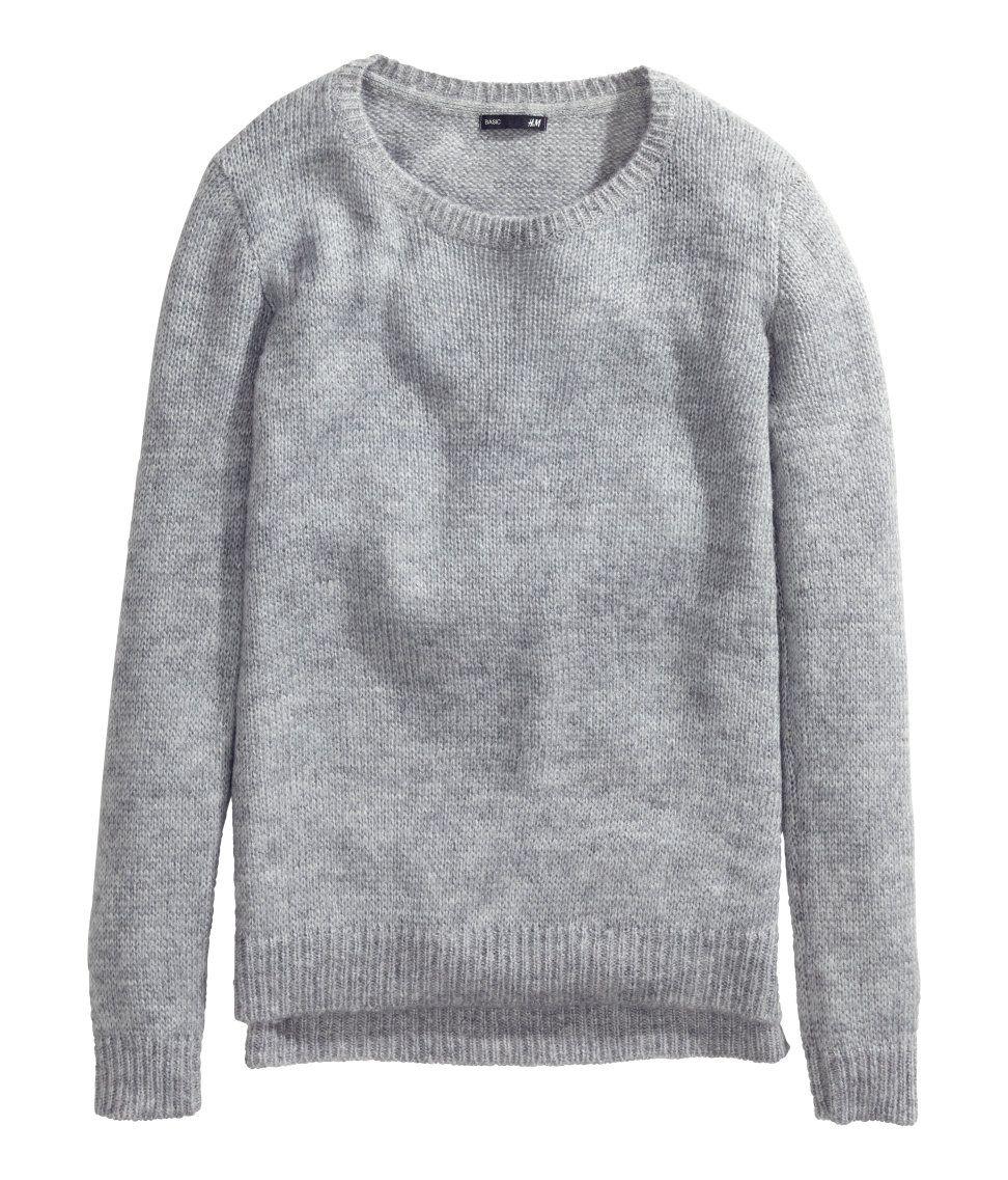 Grey plain sweater | H&M CL | Classic Style | Pinterest | Knit ...