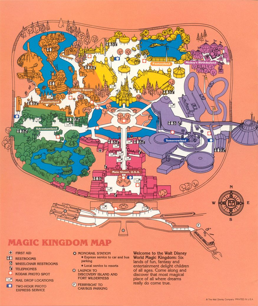Magic Kingdom Map From 1989. I Wish Iu0027d Saved All My Old Ones!