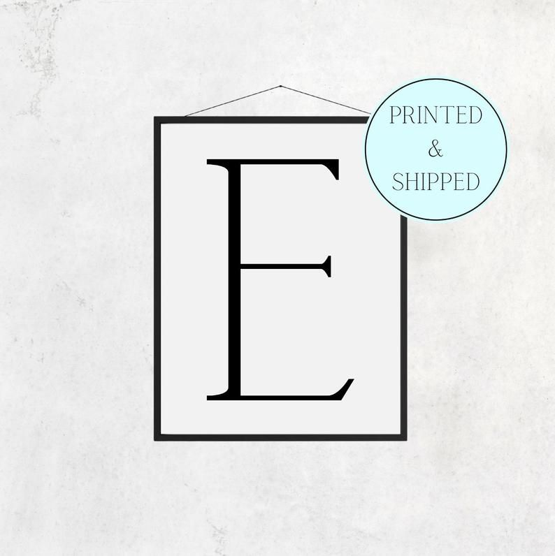 E Print Letter E Print Alphabet Print Letter Print Simple   Etsy