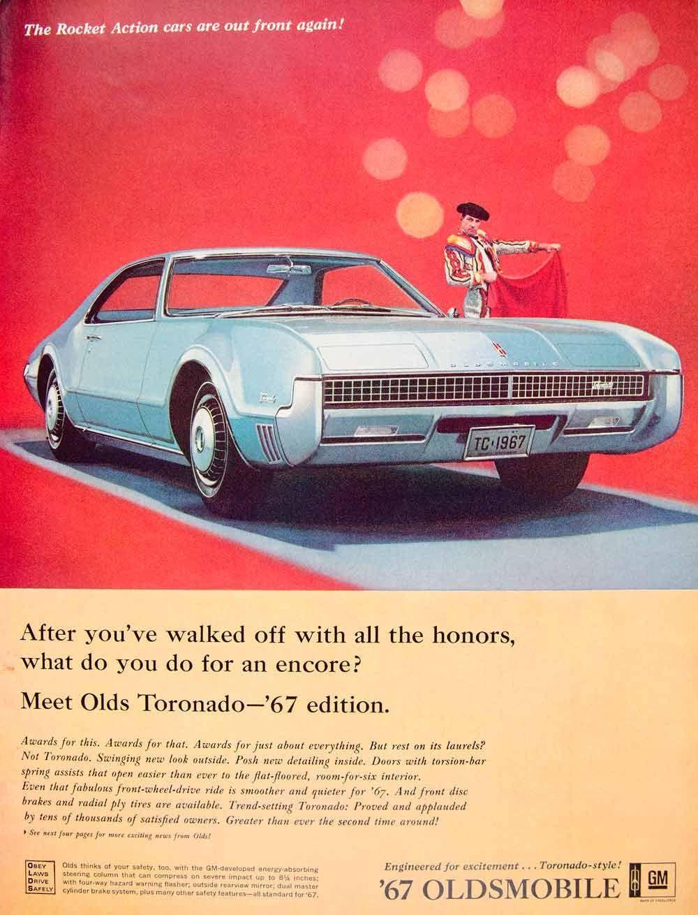 1966 ad 1967 oldsmobile toronado blue 2 door coupe classic car matador ylz2