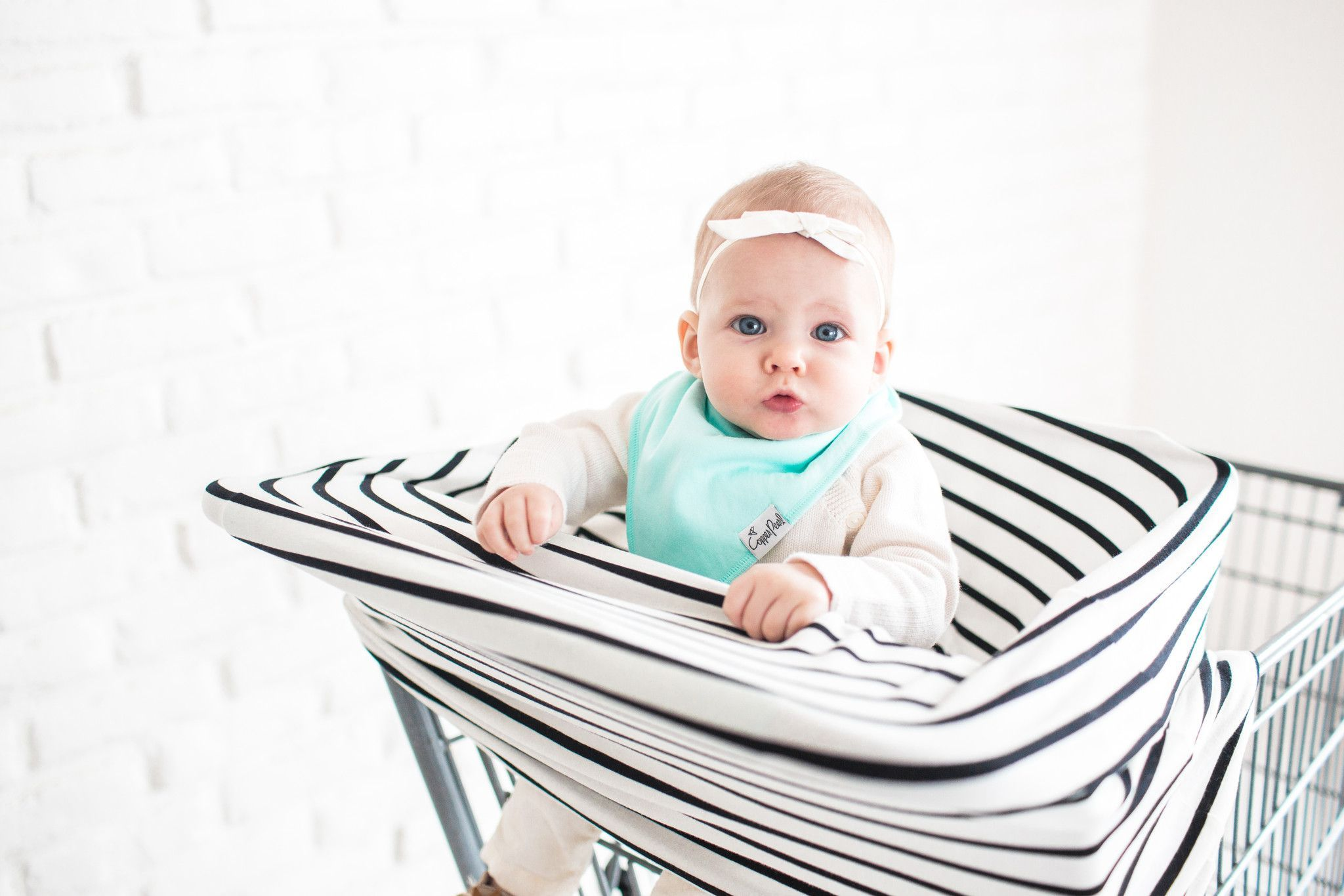 Baby Car Seat Cover Canopy and Nursing Cover Multi-Use Stretchy 5 in 1 GiftThe City by Copper Pearl