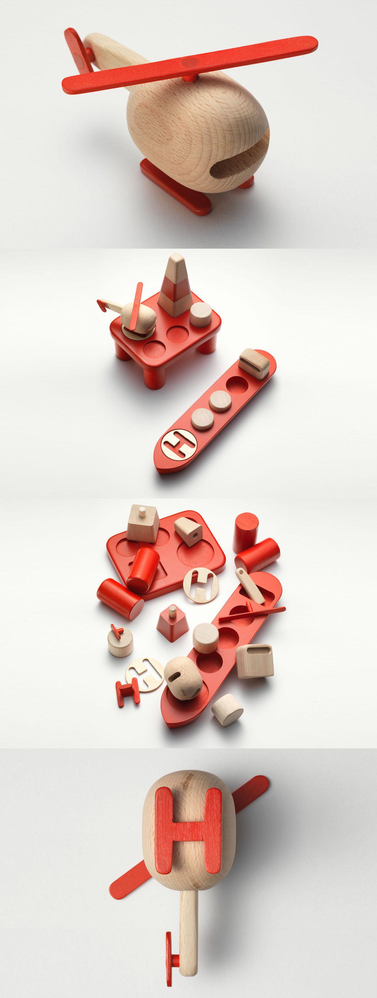 schicker hubschrauber aus holz holzspielzeug f r kinder holzspielzeug mit stil spielzeug. Black Bedroom Furniture Sets. Home Design Ideas