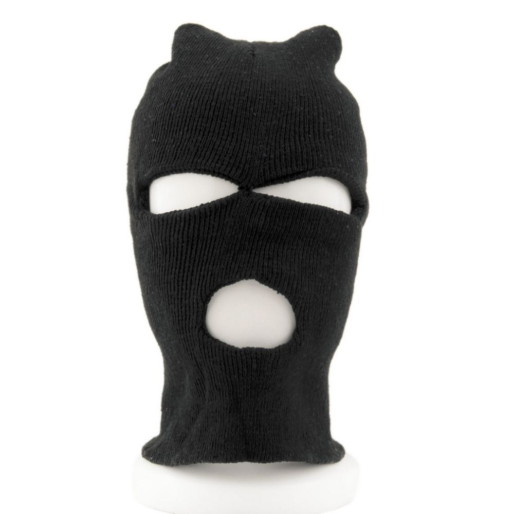 New Face Mask Full Face Cover Ski Mask Three 3 Hole Balaclava Knit ...