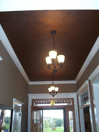 Going Dark On The Ceiling Colored Ceiling Home Decor
