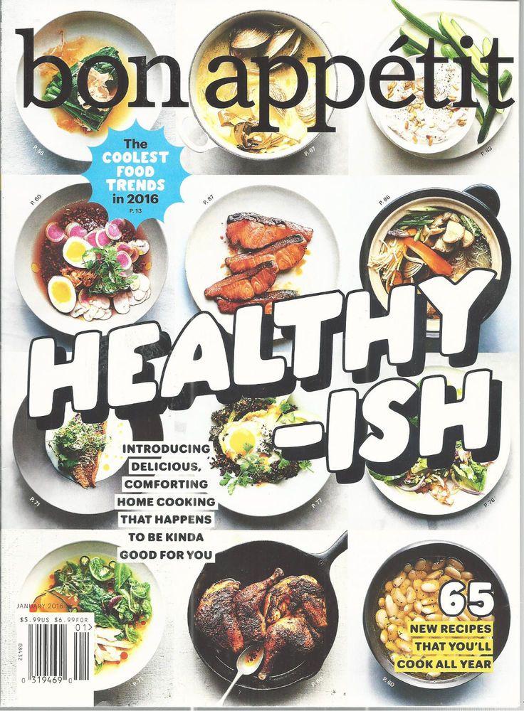Bon Appetit Magazine Healthy Ish January 2016 Recipes