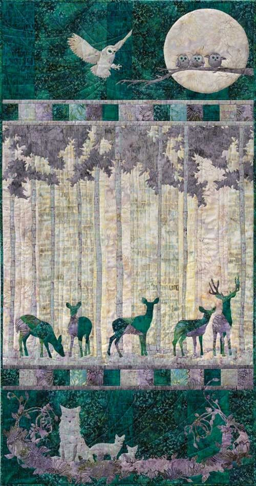 One for the log cabin, this #quilt is coming soon! Moon Shadow Kit ... : quilting fabric kits - Adamdwight.com