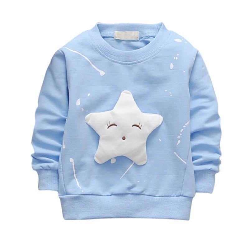 Kids Toddler Baby Boy Girl Rainbow Pullover Sweatshirt Long Sleeve Shirt Cotton Sweater Tops Fall Winter Clothes