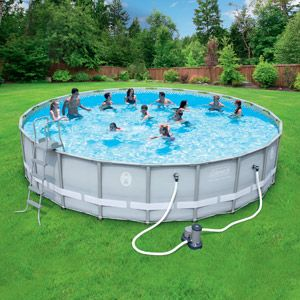 Coleman 22 X 52 Power Steel Frame Above Ground Swimming Pool Set Best Above Ground Pool Swimming Pool Accessories Coleman Pool