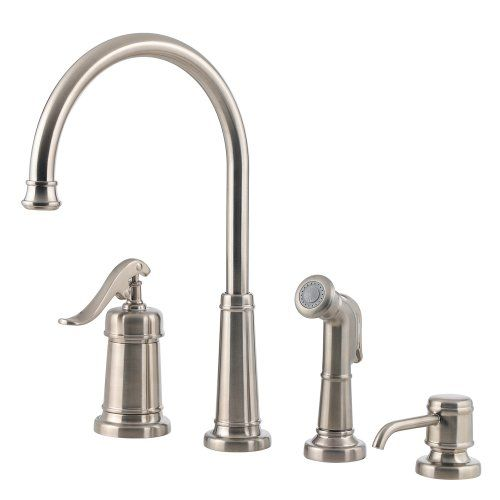 Price Pfister 0264ypk Ashfield 4hole Kitchen Faucet Satin Nickel