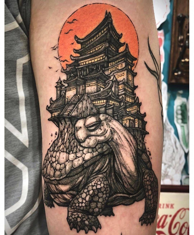 Japanese Sea Turtle With An Island Japanesetattoos Tatuagem De Avatar Tatuagem Tradicional Arte Da Tatuagem Japonesa