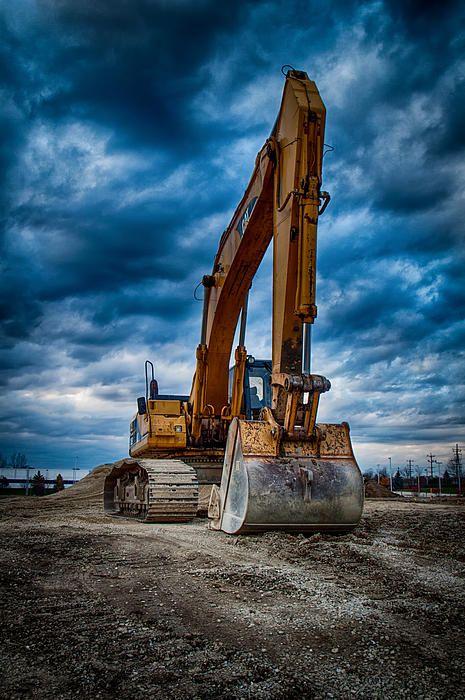 Cat Excavator By Mike Burgquist Cat Excavator Heavy Equipment Excavator