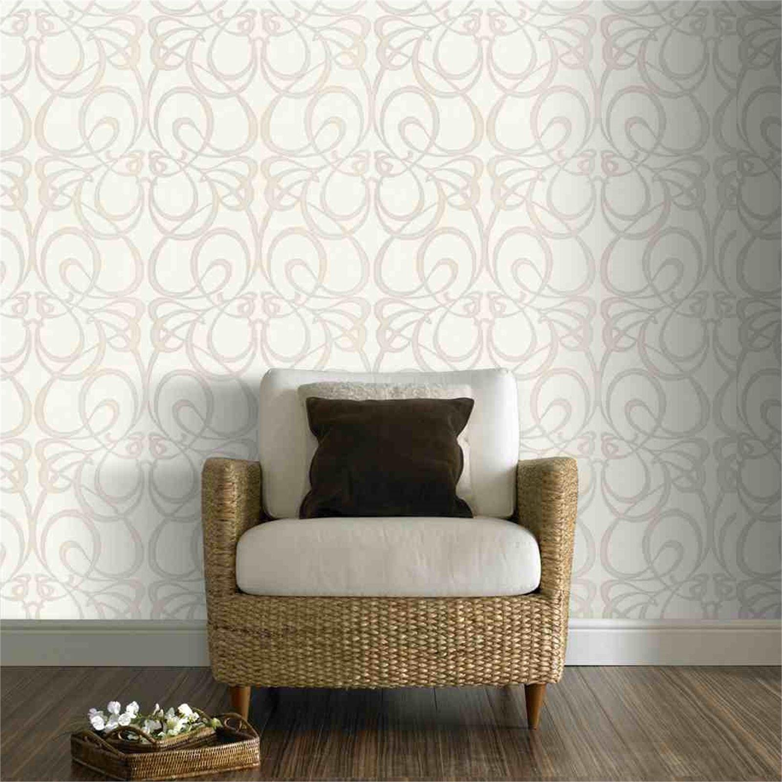 Find Superfresco Easy Jazz Art D Amp 233 Cor Wallpaper 52cmx10m White At Bunnings Warehouse White And Silver Wallpaper Contemporary Wallpaper Wallpaper Decor