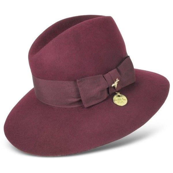 b48269c61067a Patrizia Pepe Dark Purple Wool Fedora Hat