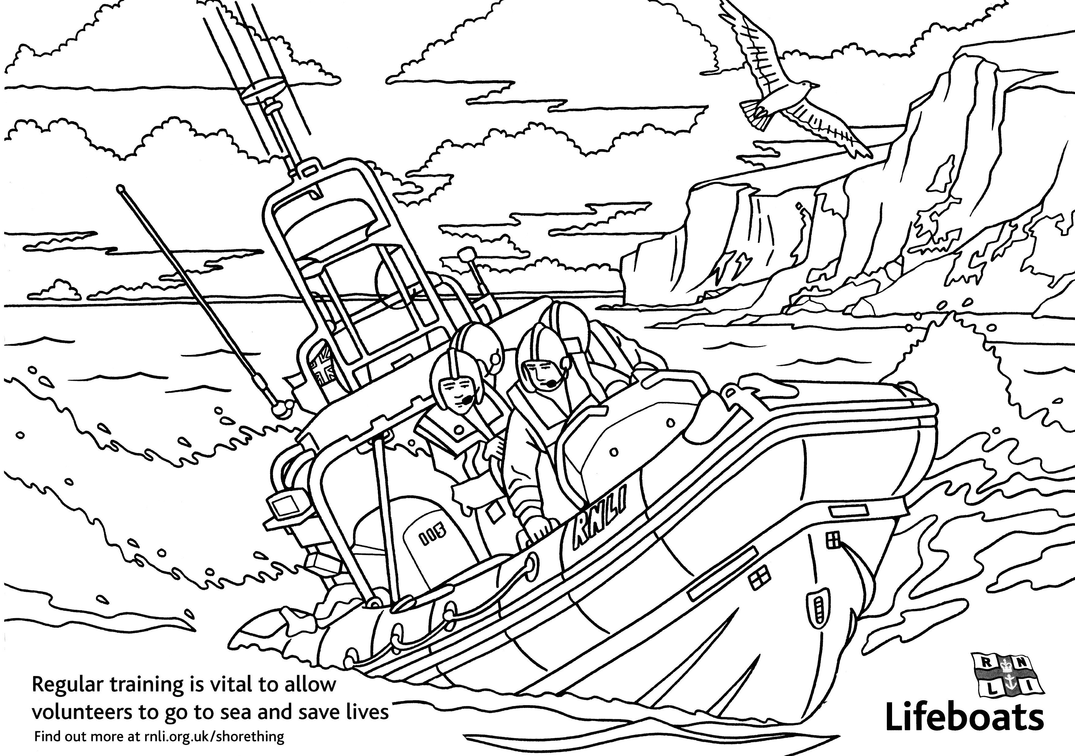 Colouring Pages Whitstable Lifeboat Station Coloring