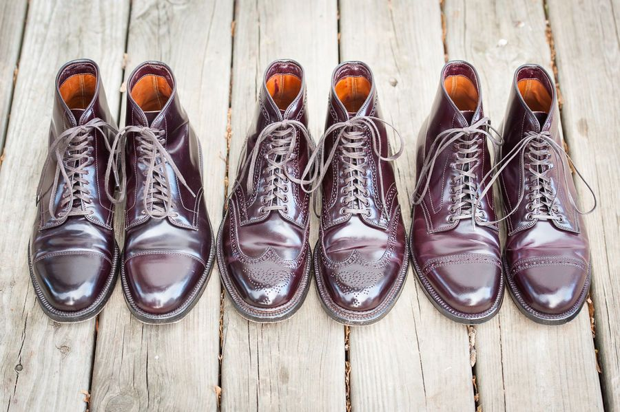 54e02a51ebc Alden Cap Toe Cordovan boots: J.Crew vs Alden   Things to Wear ...