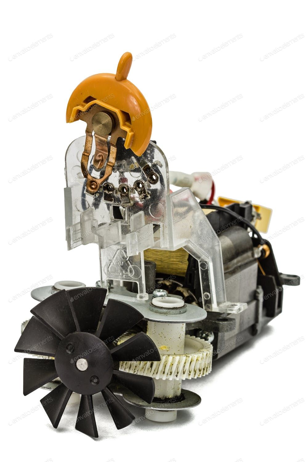 Small Electric Motor With Fan Isolated On White Background By Kostiuchenko S Photos