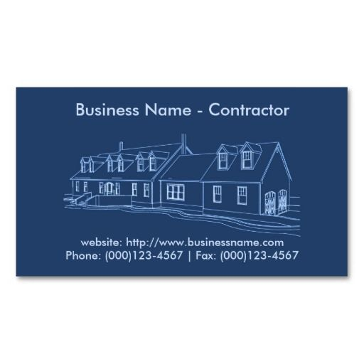 Business Card Contractor Construction Business Card Zazzle Com Construction Business Cards Real Estate Business Cards Customizable Business Cards