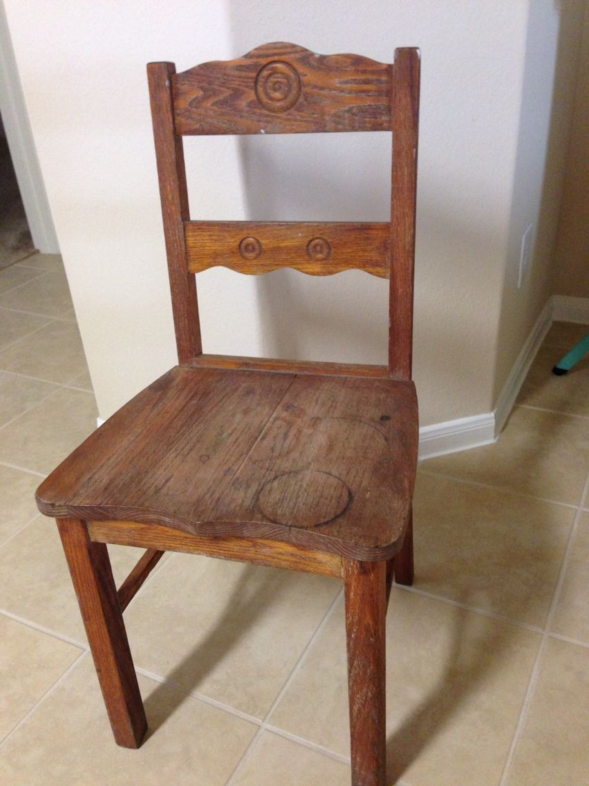 Old school chair before Old school chair