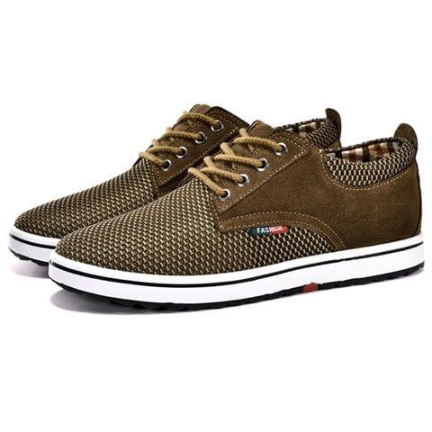 casual hidden wedge and laceup design sneakers for men