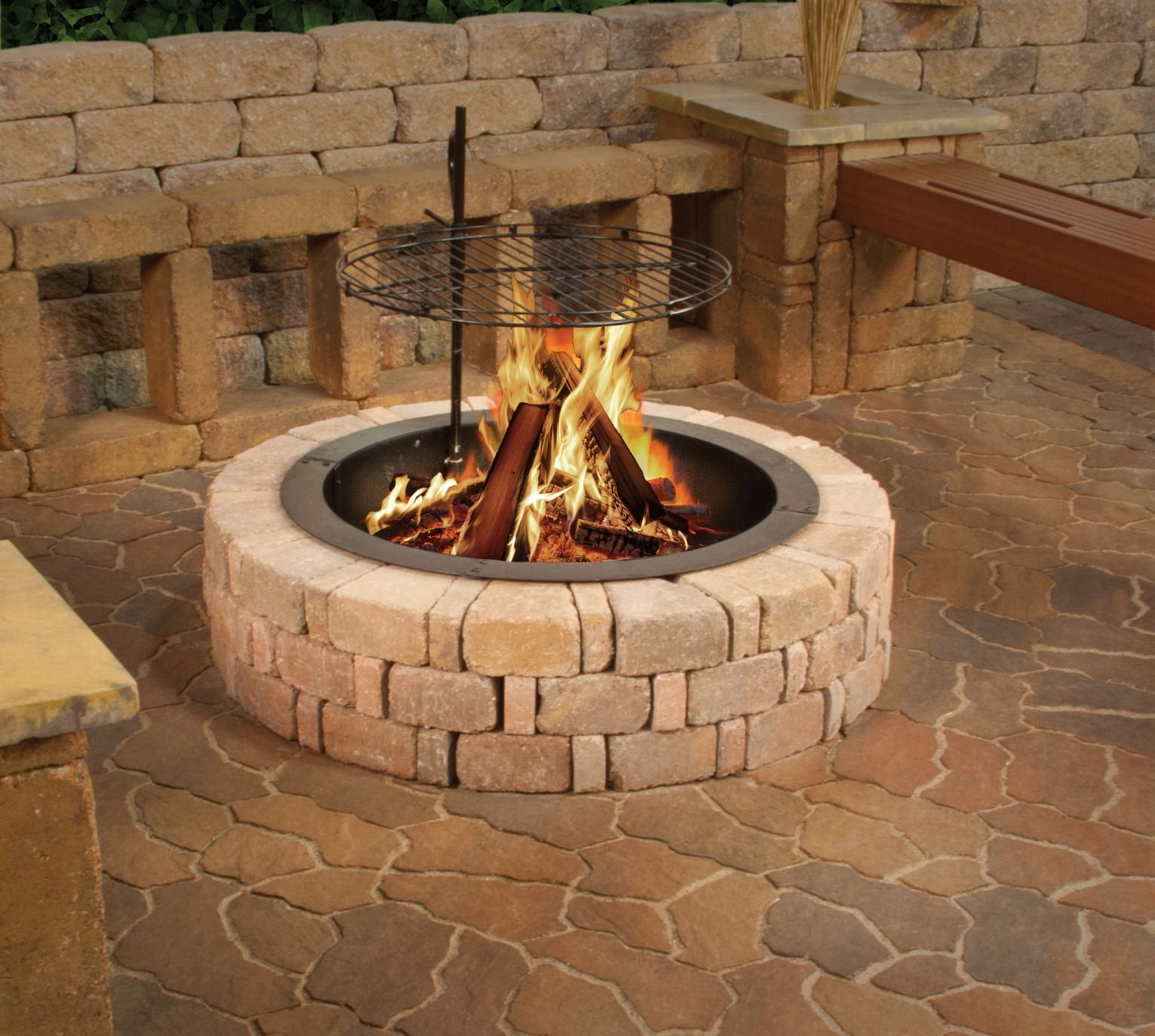 add a warm ambiance to your outdoor space with the albany fire ring