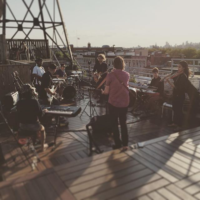 An awesome Virtual Reality pic! #360Video #VirtualReality live band video shoot on rooftop of @riromuzik by simoncfyu check us out: http://bit.ly/1KyLetq
