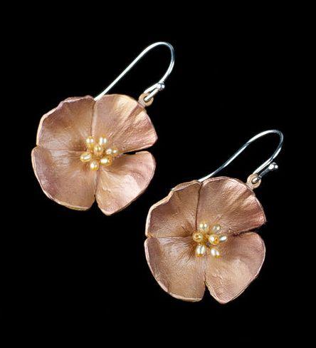 California Poppy Earrings