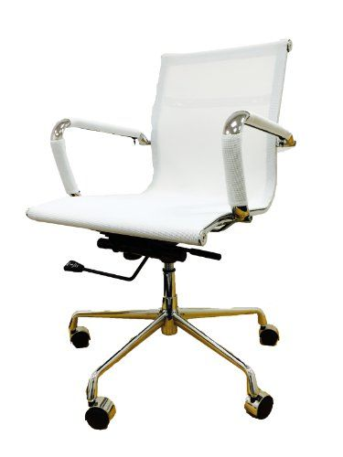 Reproduce Eames Style Mesh Office Chair Recline Hight Tilt Adjust Chrome Base White Liftmaster Http Www Amazon Co Uk D Mesh Office Chair Office Chair Chair