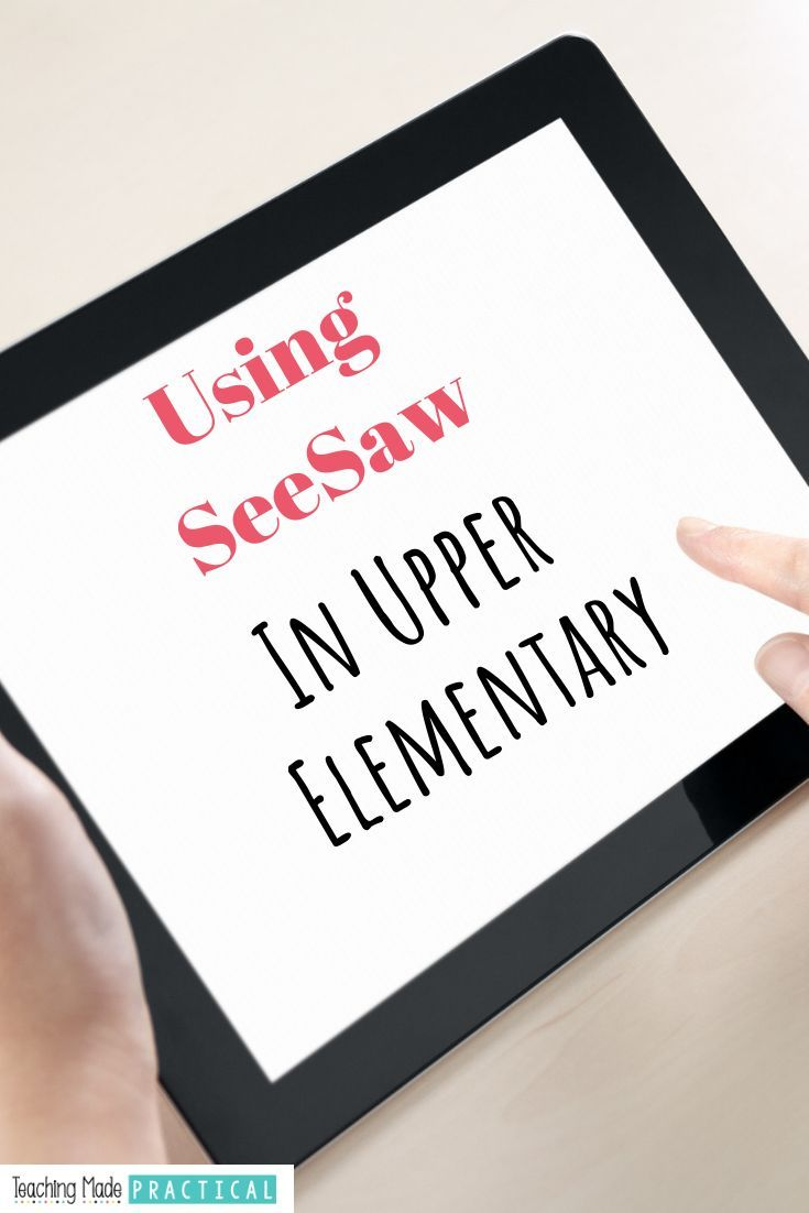 Using SeeSaw in the Upper Elementary Classroom #onlineportfolio