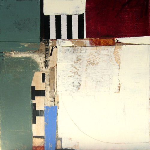 "dailyartjournal: Charlotte Foust, ""Platform"", mixed media on canvas"