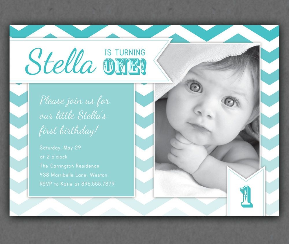 Ombre Chevrons Invitation