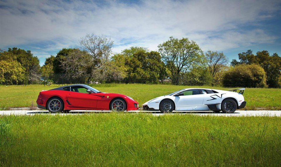 This Will NOT End Well x'D    Lamborghini Murcielago Lp670-4 SV  vs  Ferrari 599 GTO