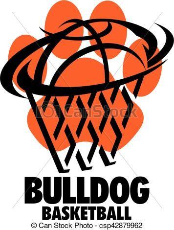 vector bulldog basketball stock illustration royalty free rh pinterest com au free clipart baseball images free clip art basketball images