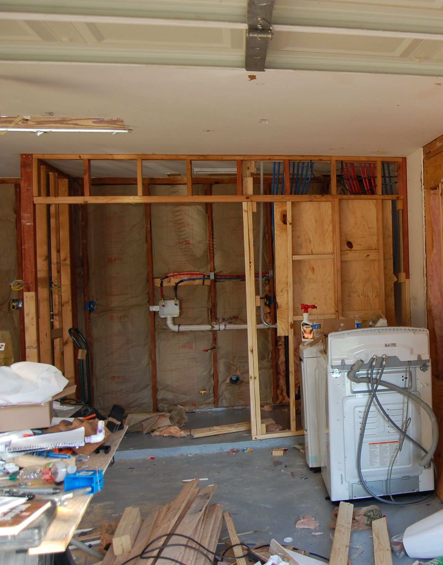Garage Man Cave Extension Building My Laundry Room In The Garage My House Before During