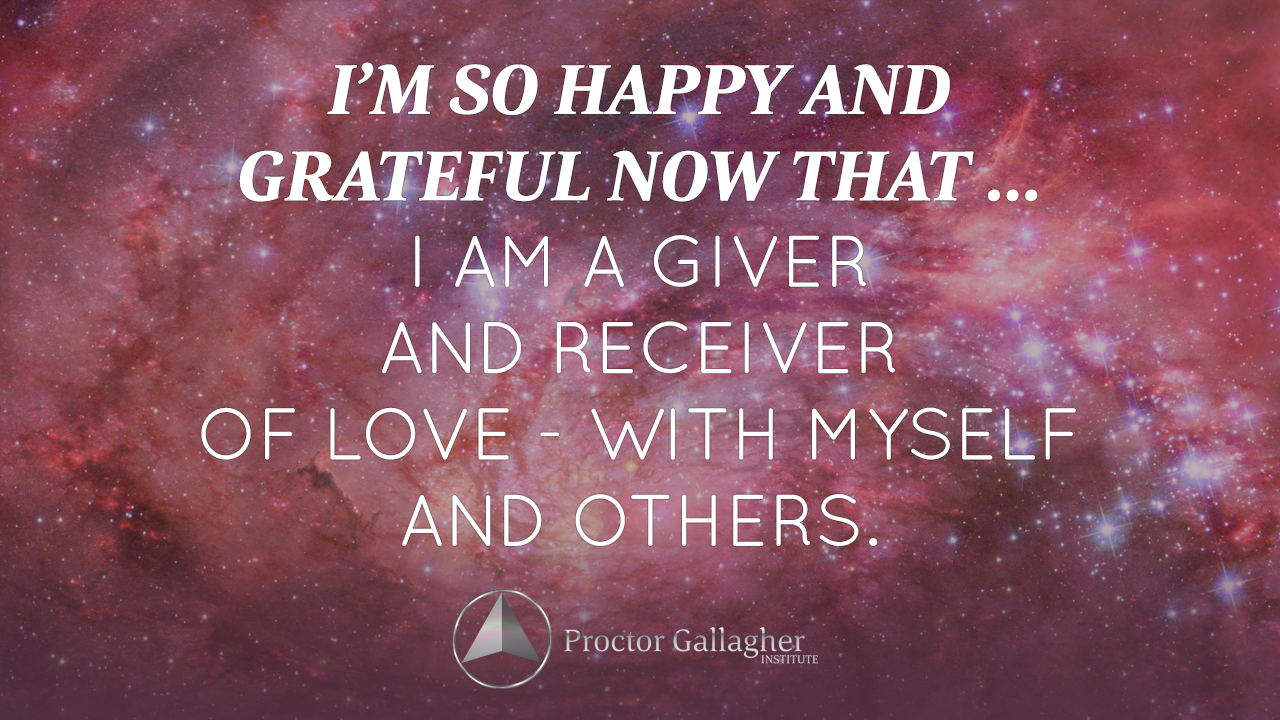 I'm so happy and grateful now that … I am a giver and ...