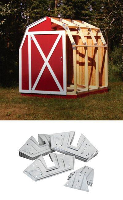 Quick Framer Universal Storage Shed Framing Kit Gambrel Roof Shed Frame Shed Plans Shed