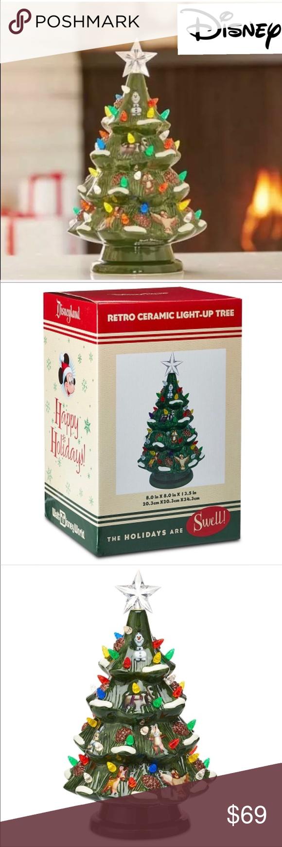 New Disney Parks Retro Light Up Christmas Tree Vintage Christmas Tree Christmas Tree Vintage Christmas
