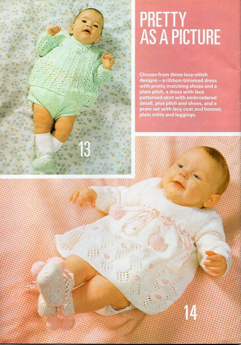 51fcb34bd Vintage baby dress pants shoes knitting pattern pdf baby girl dress ...