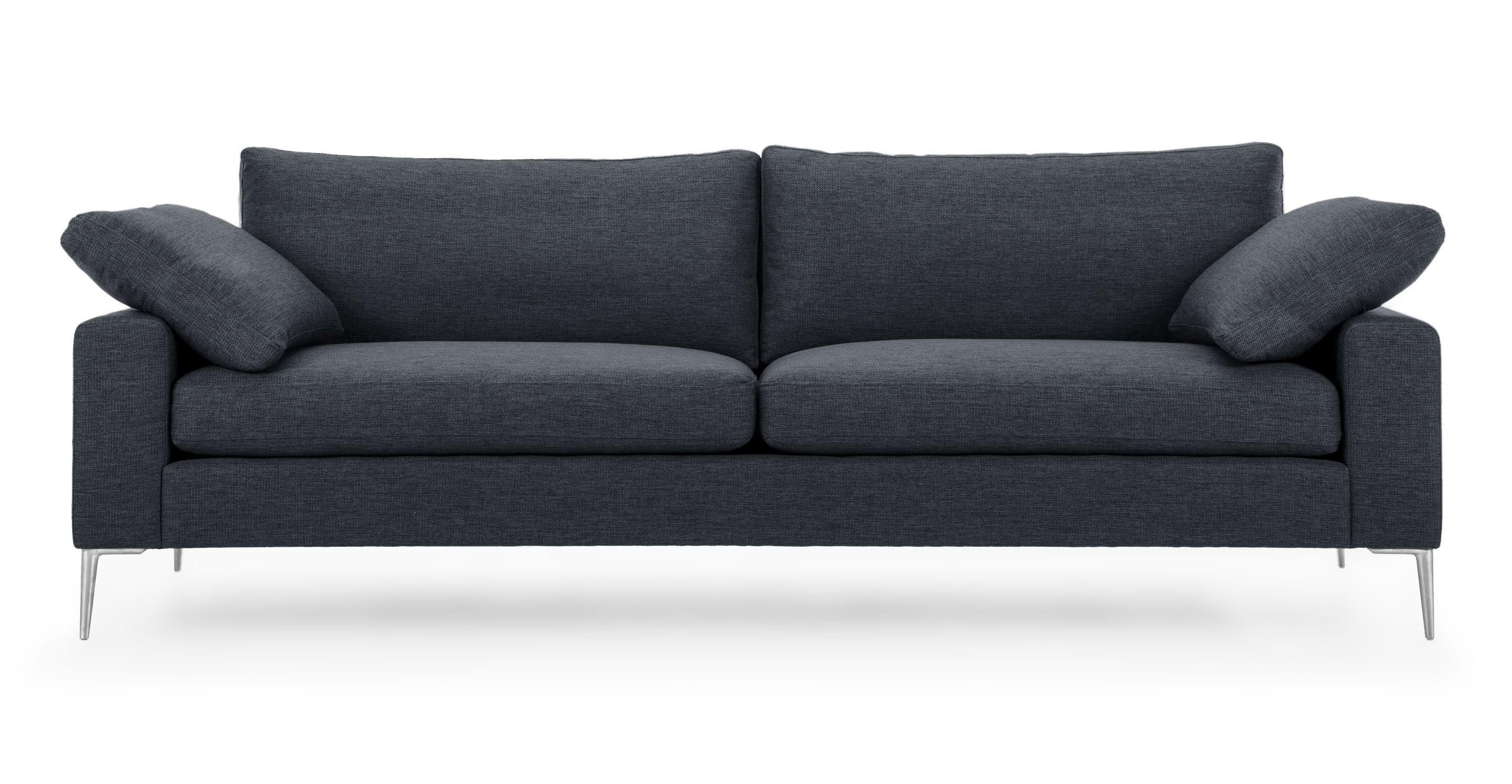 Nova Bard Gray Sofa Metal Legs Scandinavian furniture