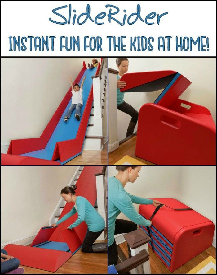 Merveilleux Turn Your Stairs Into A Slide Complete With Safety Rails With The SlideRider