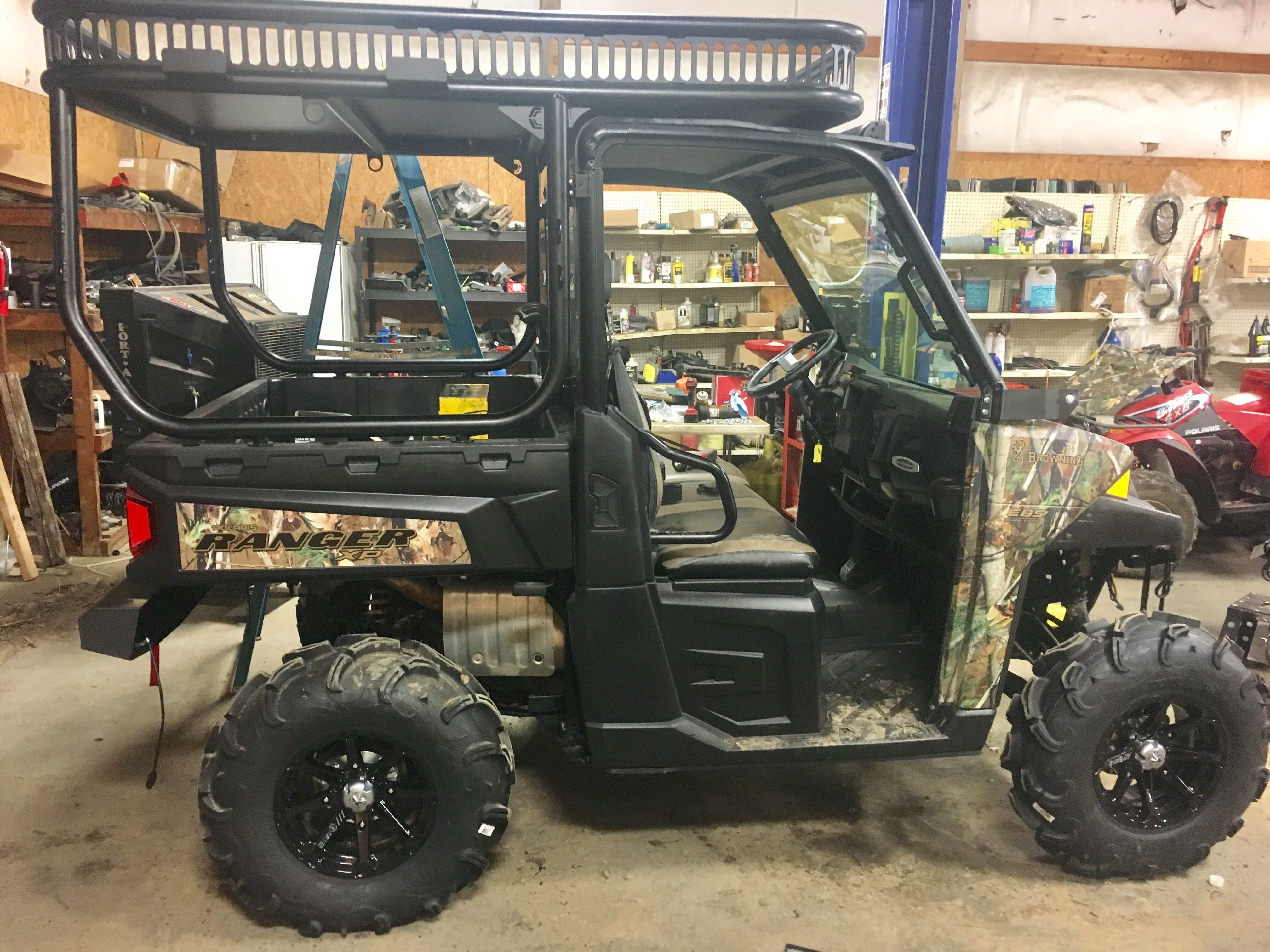 Pin By Cryptocage Com On Duck Rig Polaris Ranger Roll Cage Extension Polaris Ranger Polaris Ranger Rack
