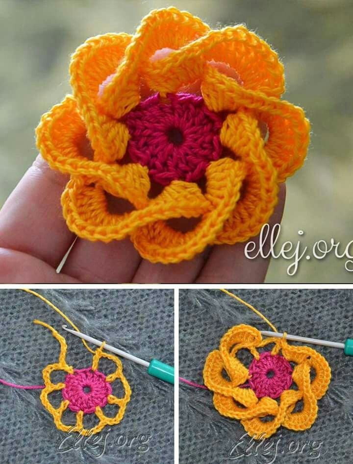 Pin von Mikka auf cvijet | Pinterest | Blumen häkeln, Häkelblumen ...