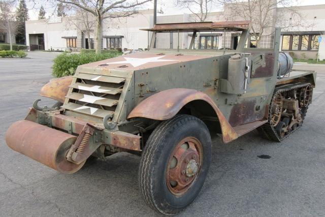 Military Surplus Auction >> 1941 White M2 Half Track Serial 231308 Mileage Reads 56