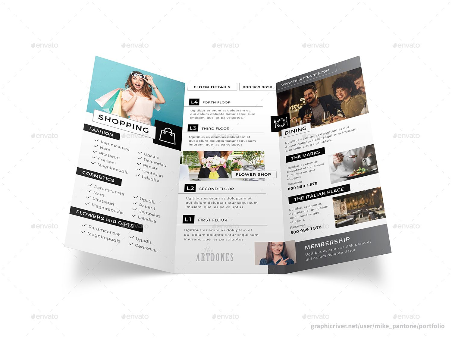 Shopping Mall Trifold Brochure Trifold brochure