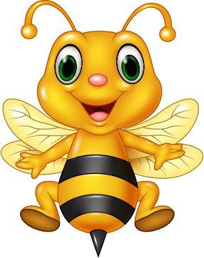 Cartoon Cute Bee Vector 01 Vector Animal Vector Cartoon Free Download Cartoon Bee Cute Bee Bee Art