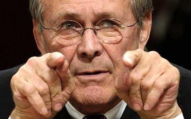 Errol Morris prepares his next film. A documentary on Donald Rumsfeld.