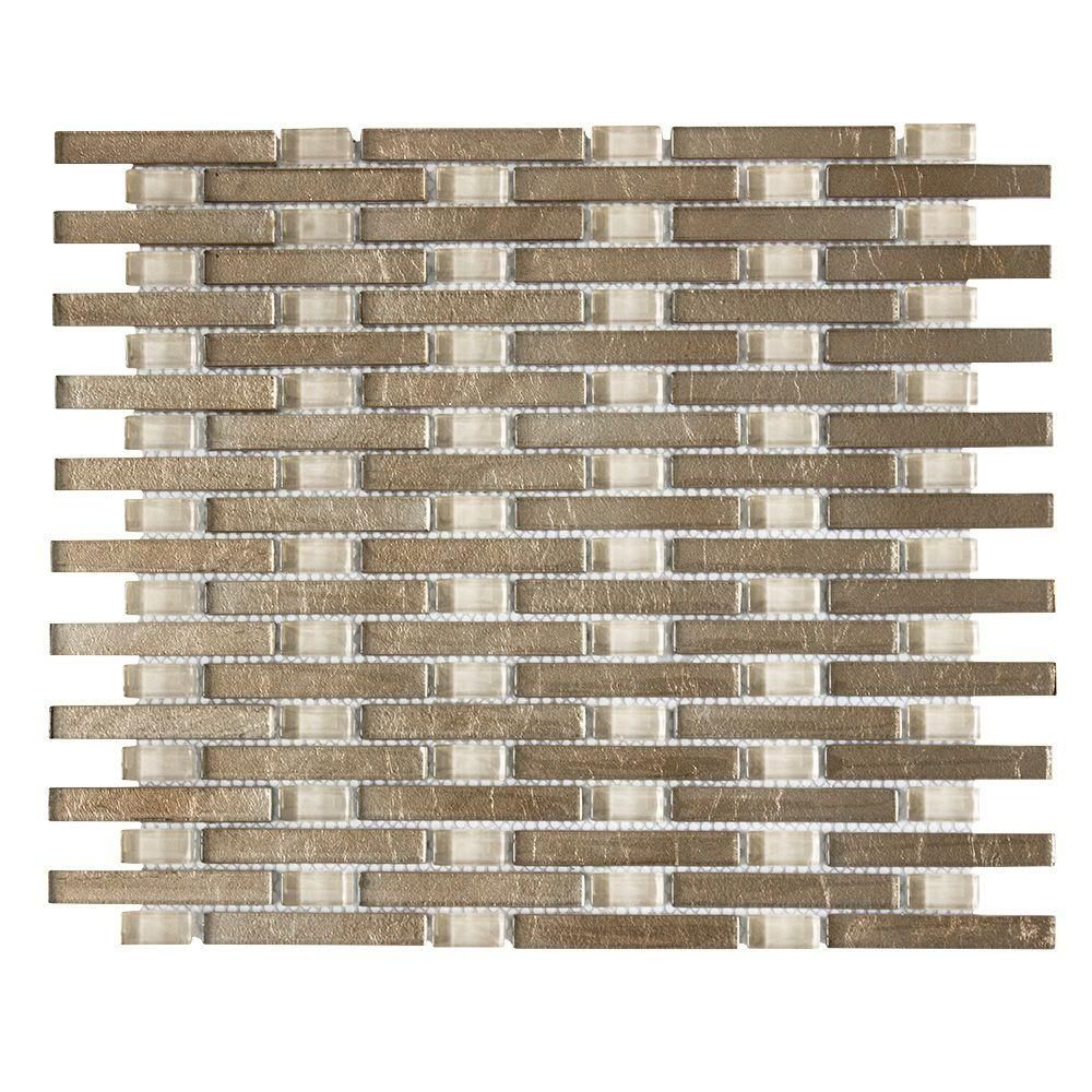 Jeffrey Court Sphynx 11 in. x 13.25 in. x 8 mm Glass Mosaic Wall Tile