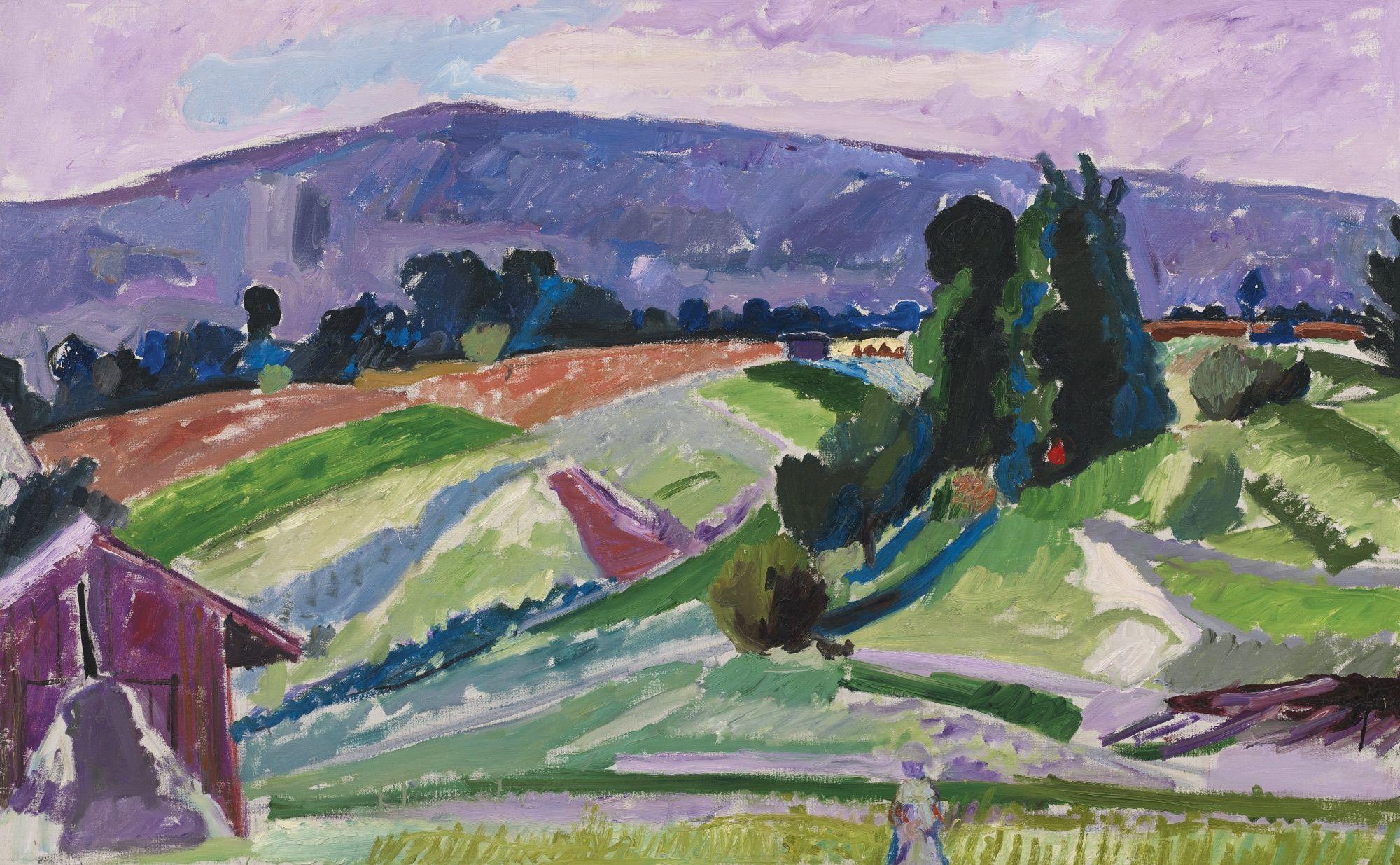 Sommerlandschaft mit Scheune. Max Gubler (1898-1973)
