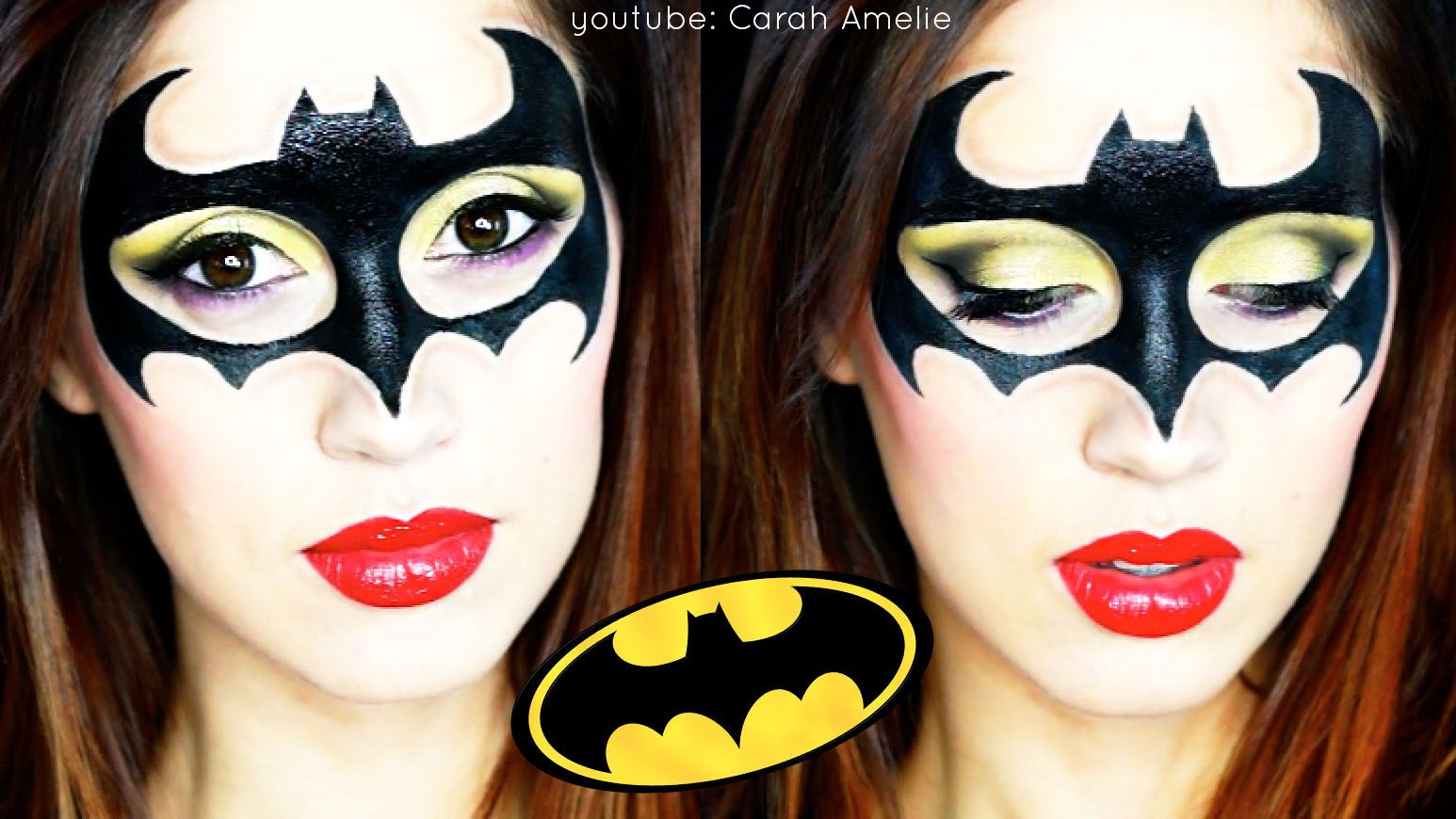 the 25 best batgirl makeup ideas on pinterest gesicht schminken batman batwoman halloween. Black Bedroom Furniture Sets. Home Design Ideas