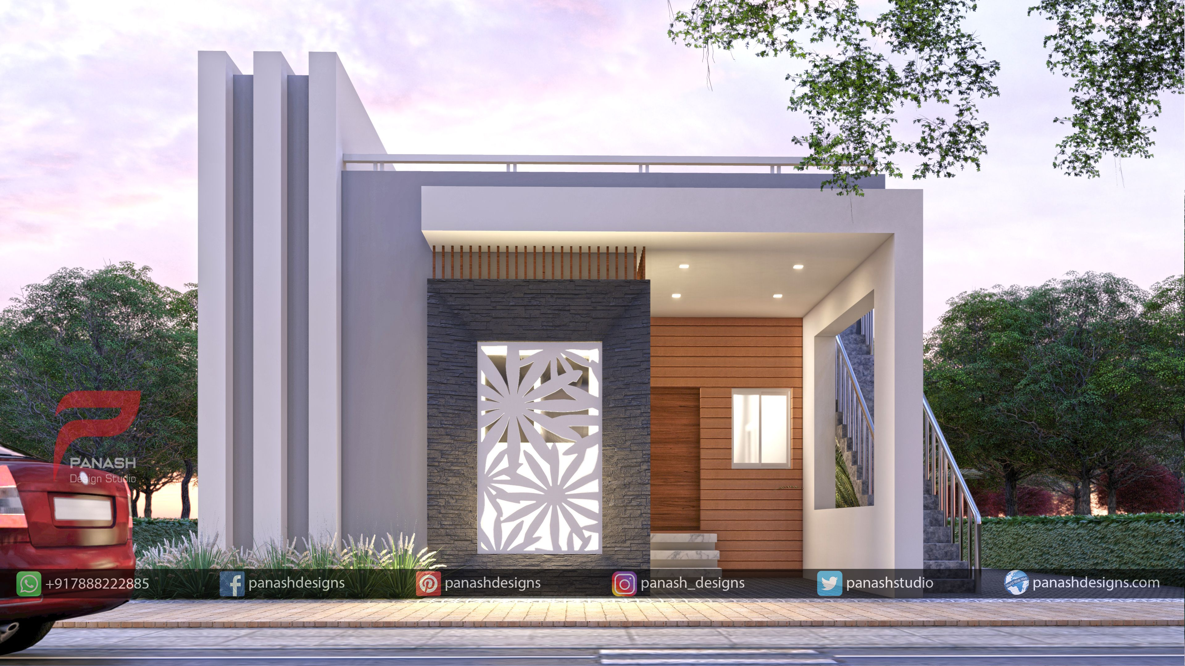 Residential Elevation in 2020 | Modern house facades, Architectural house  plans, Best small house designs