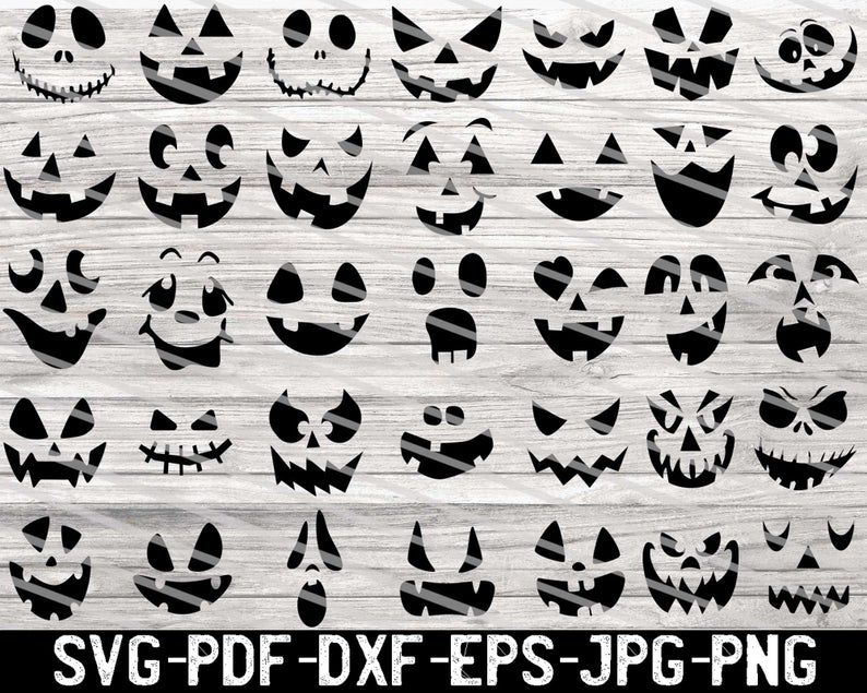 Pumpkin Face Svg Free